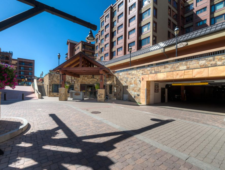 The Village at Breckenridge 4325 – Entrance to the underground parking garage