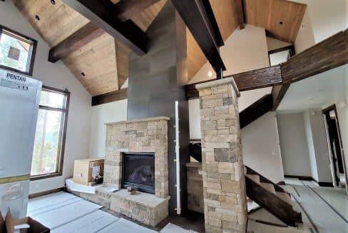 Main level fireplace